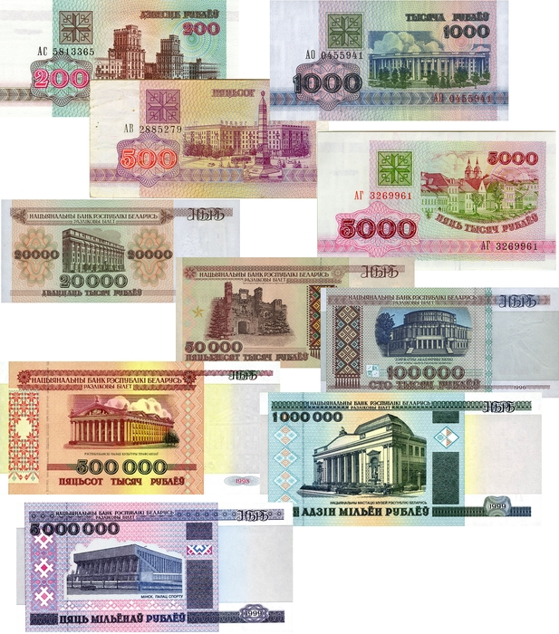 Конвертация Белорусский Рубль (BYR) и Доллар США (USD