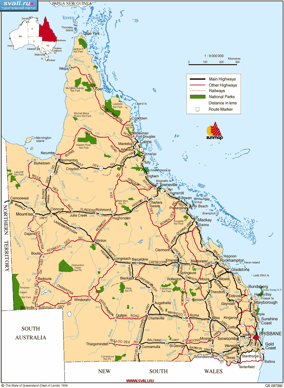 maps of world map of queensland australia