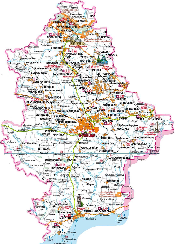 карта-схема железной дороги донецкой области