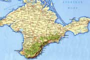 Фото. Карта Крыма
