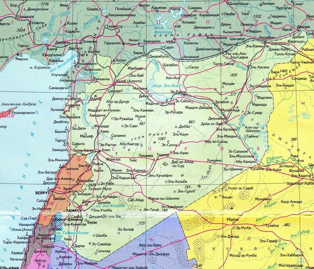 Karta Sirii Gde Nahoditsya Siriya Karta Mira Siriya Geograficheskoe