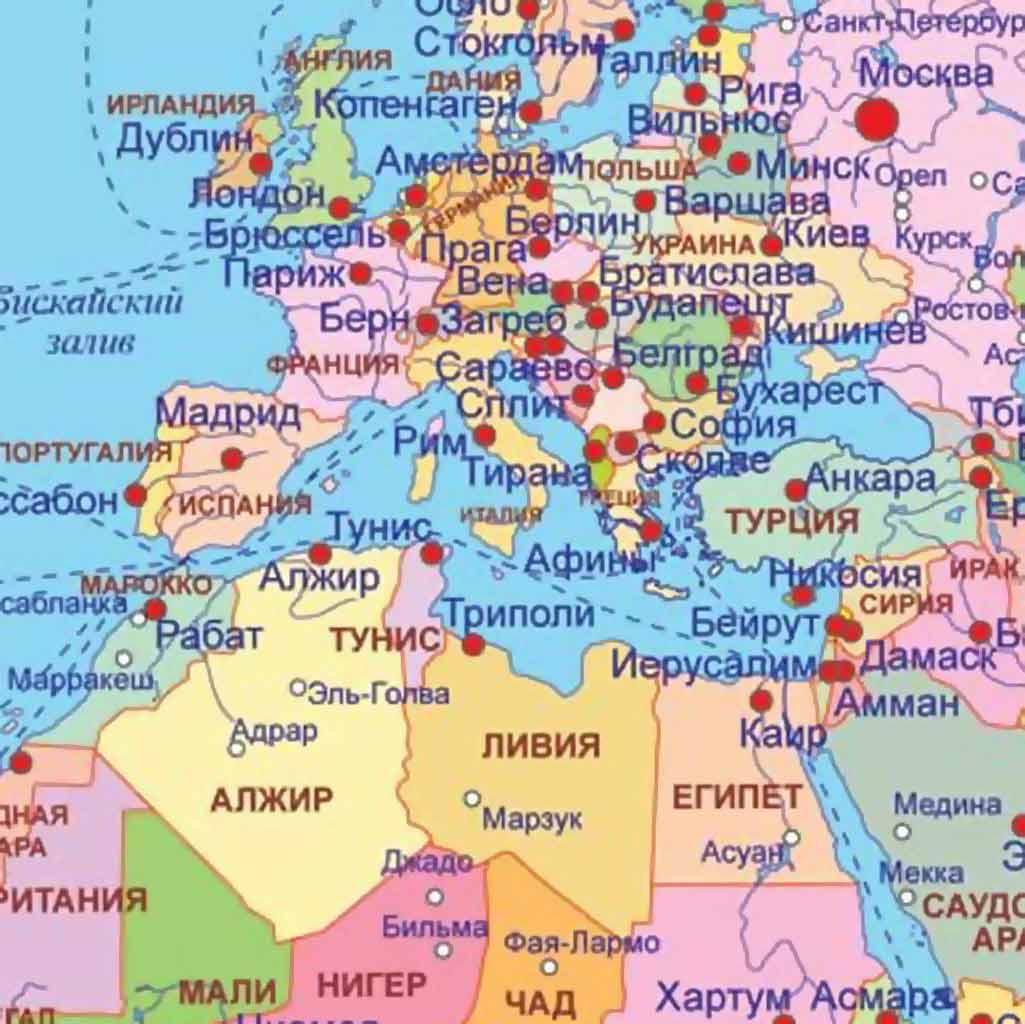 Страны карта мира какие страны