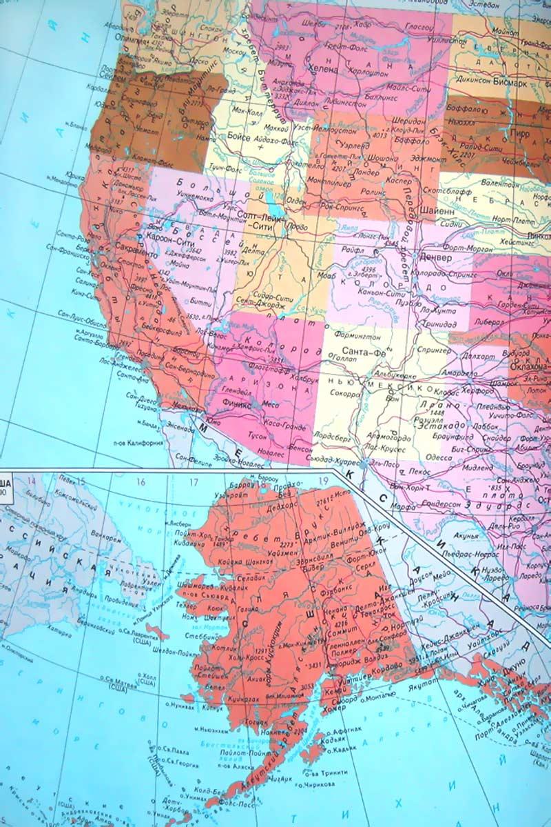 Карта США Западное побережье Карта Соединённых Штатов Америки  Карта Соединённых Штатов Америки фото