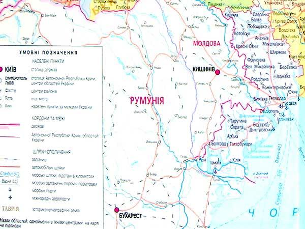 Карта Украины. Одесская