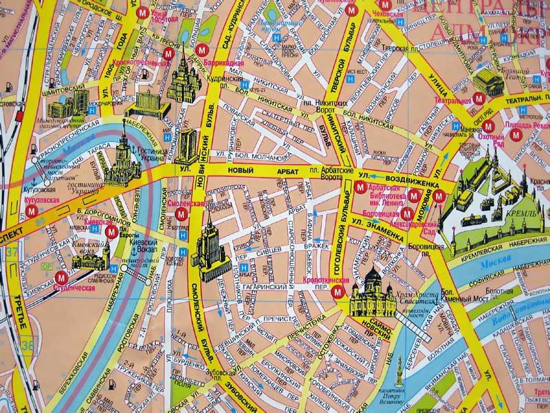 Новый Арбат на карте Москвы