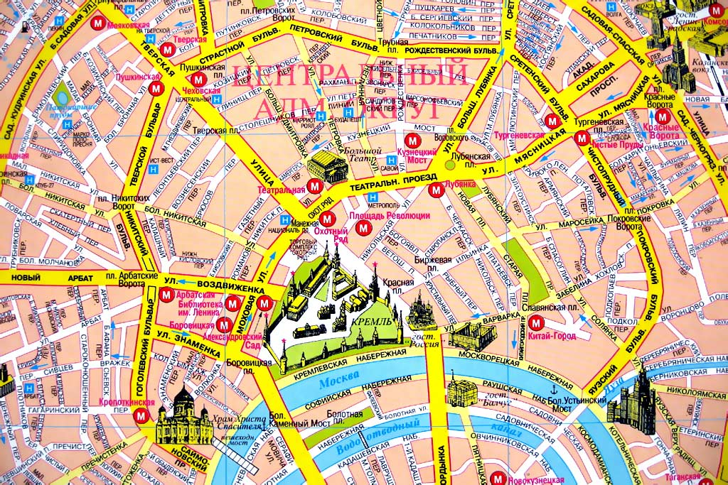 площадь на карте Москвы.