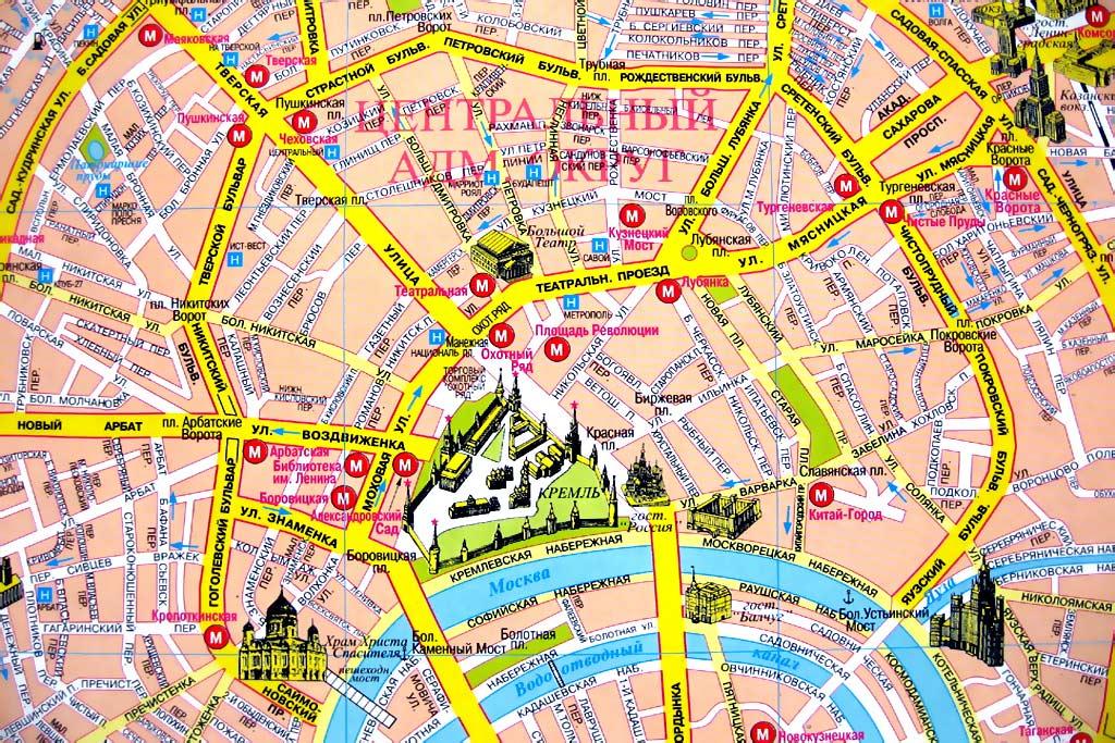 Красная площадь на карте