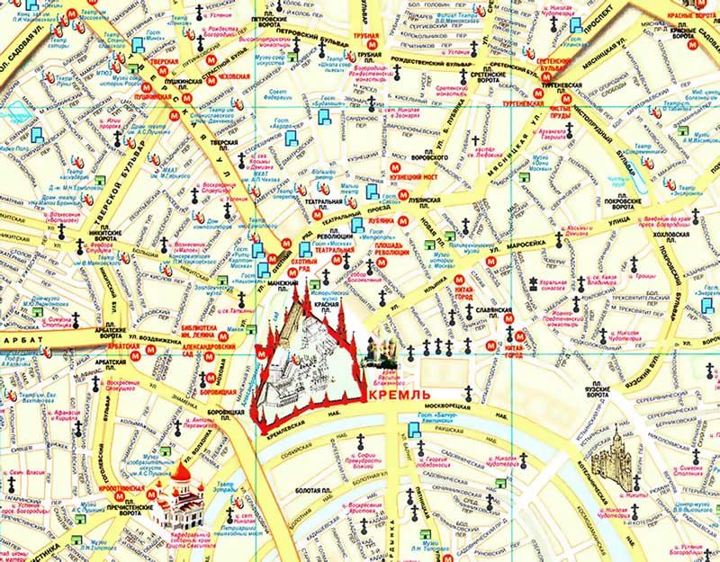 Китай город на карте Москвы