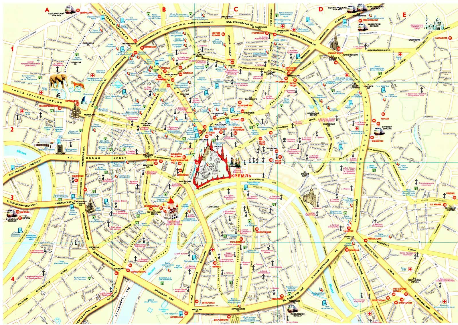 Садовое кольцо Москвы на карте.  фото
