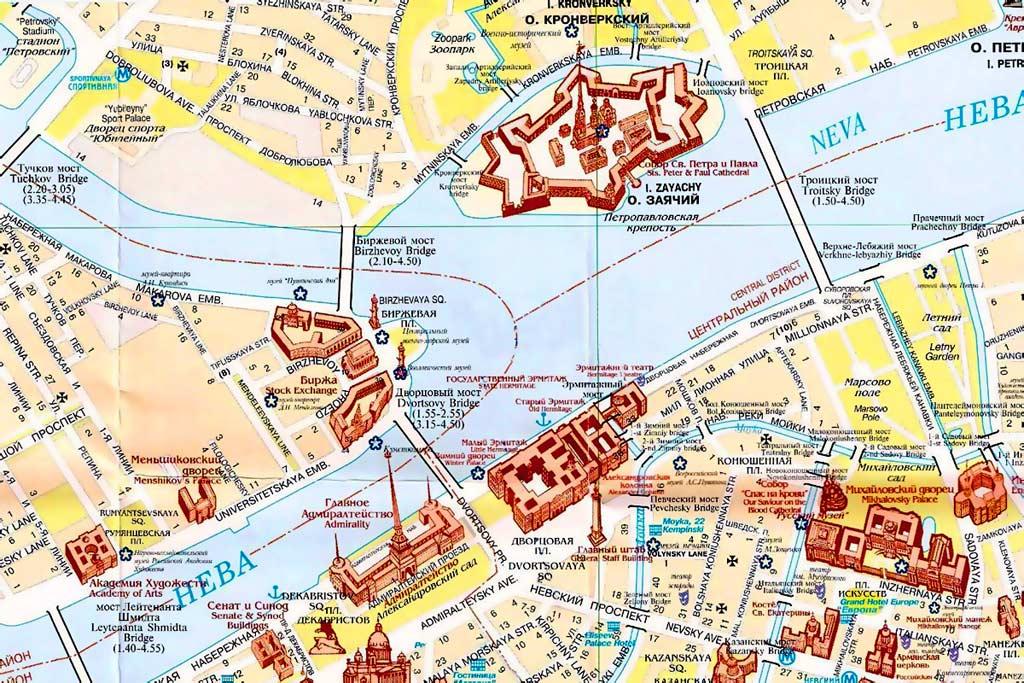 Карта Санкт-Петербурга,