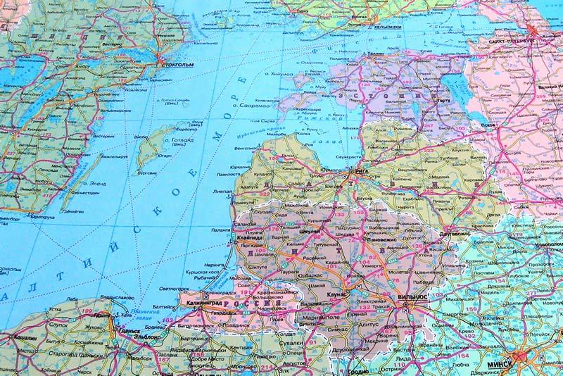 Карта Прибалтики Фото. Картинка
