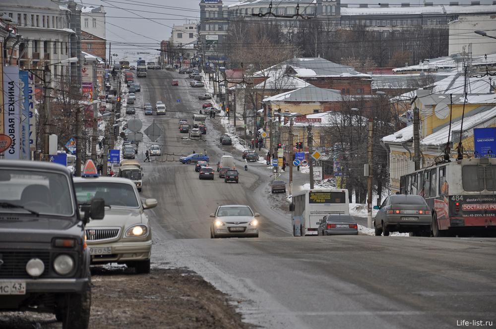Зима в Кирове. Улица Ленина.