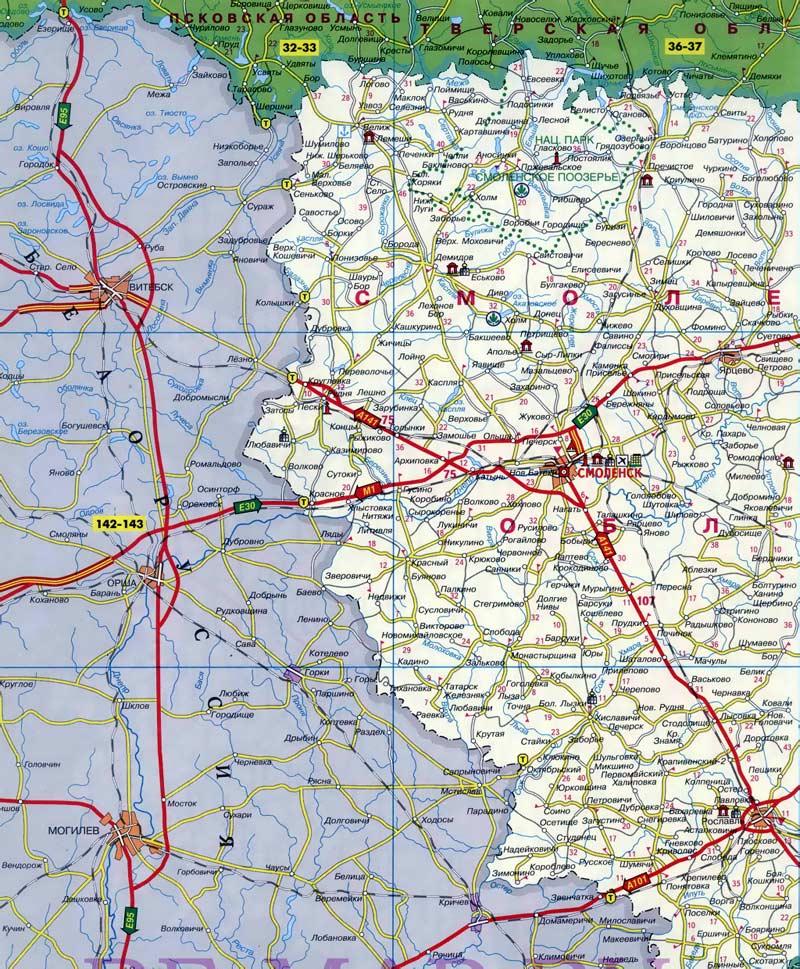 Карта автомобильной дороги