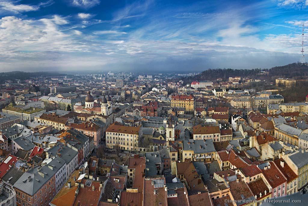 Фото Львова. Панорама Львова. Картинка