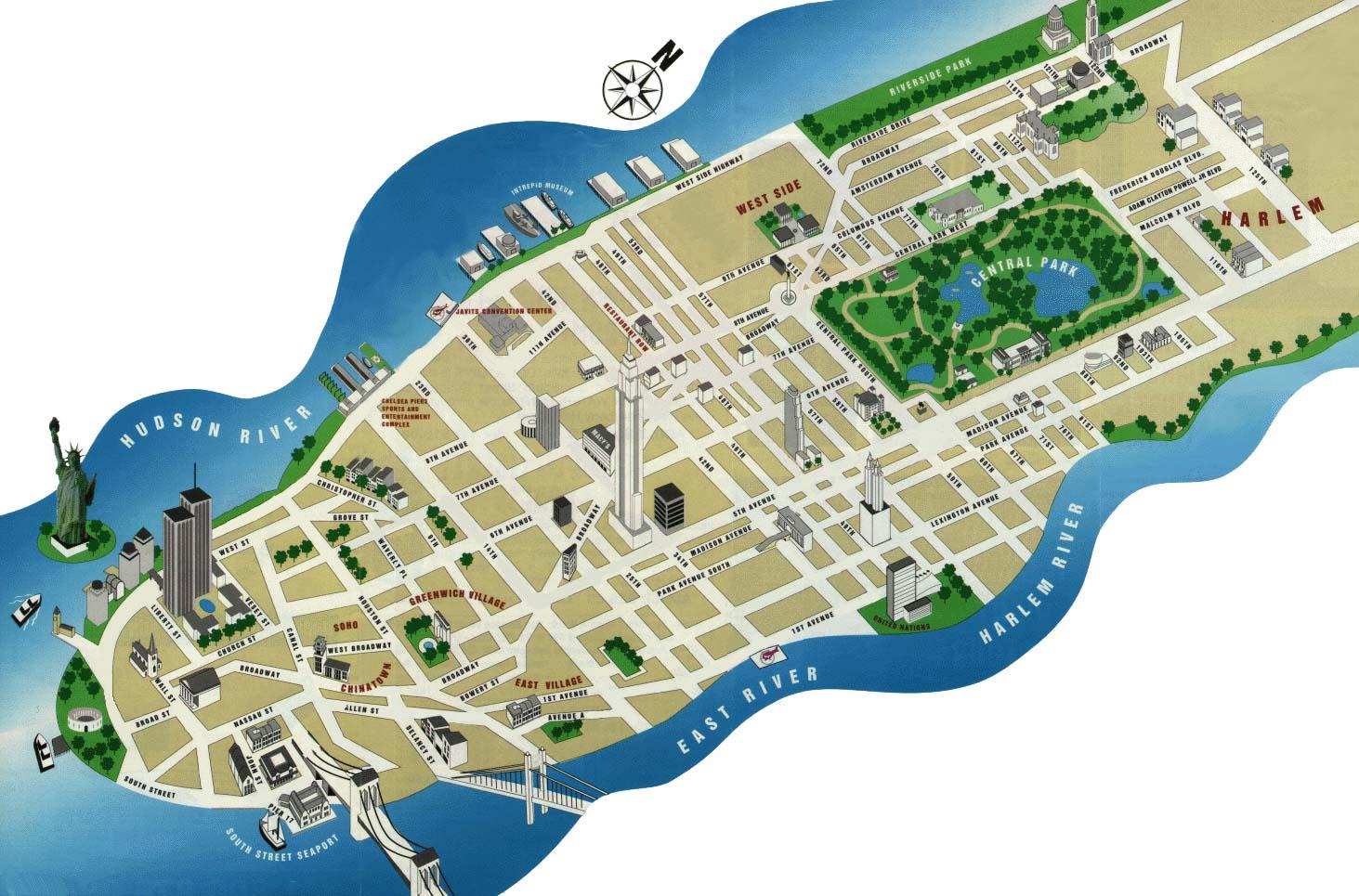 Карта манхеттэна